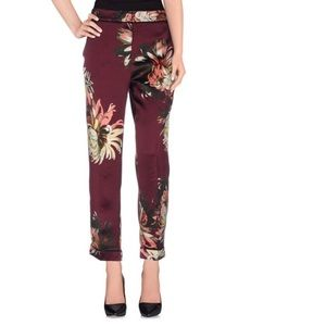 NWT Erdem Gianna Silk trouser in Garden